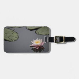 Soft Pink Waterlily Flower Luggage Tag