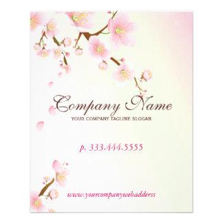 Soft Pink & White Floral Blossom Natural Spa Flyer