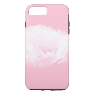 Soft Pink White Peony Floral iPhone Case