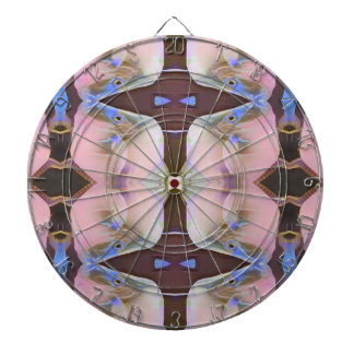 Soft Pink With Brown Periwinkle Accents Dartboard