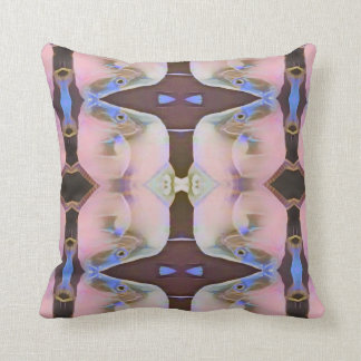Soft Pink With Brown Periwinkle Accents Throw Pillow