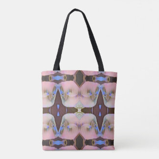 Soft Pink With Brown Periwinkle Accents Tote Bag