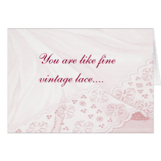 Soft Pk Lace Any Ocassion-customize Card
