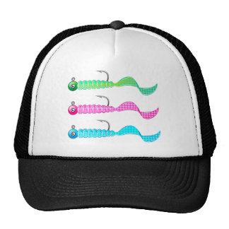 Soft plastic bright jig fishing lure twisting tail trucker hat