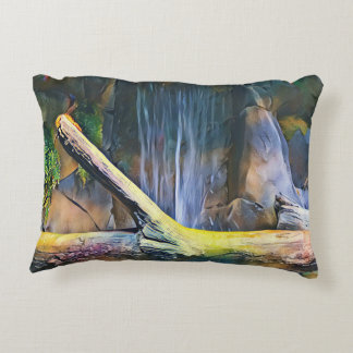 Soft Pretty Pastel Driftwood by Waterfall Accent Pillow
