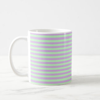 Soft Purple and Soft Green Stripes Coffee Mug