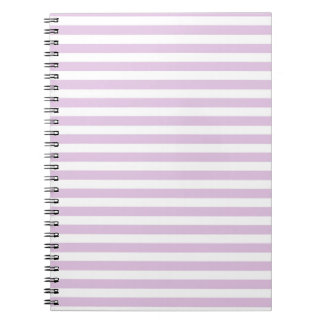 Soft Purple and White Stripes Notebook