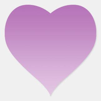 Soft Purple Ombre Heart Sticker