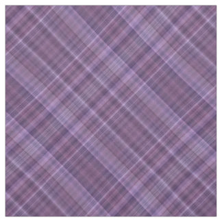 Soft purple plaid fabric