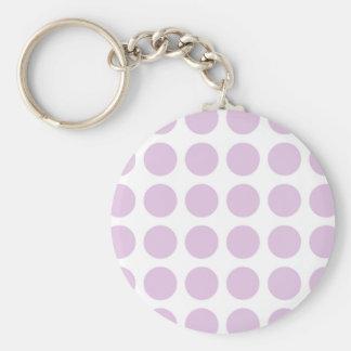 Soft Purple Polka Dots Keychain