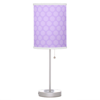 Soft Purple Polka Dots Table Lamp