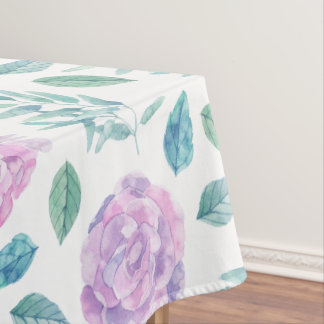 Soft Purple Roses Tablecloth