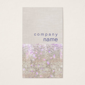 Soft Purple Silver Sequins Beauty Stylist Business Card