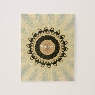 "Soft Radiating Yellow ""Spirit"" Mandela Pattern Puzzles"