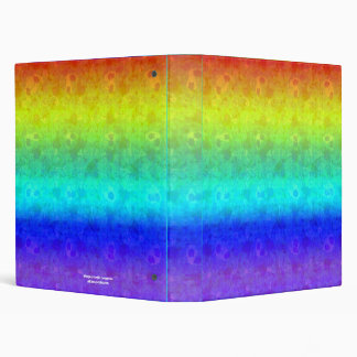 "Soft Rainbow 1"" Art Binder"