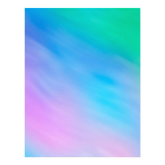 Soft Rainbow Colored Sky Letterhead