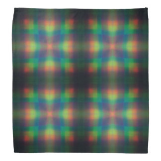 Soft Rainbow Lights Squares Abstract Design Bandana