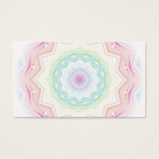 Soft Rainbow Spirograph Business Card