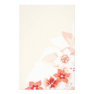 Soft Red Flowers - Stationary - 4 Stationery Paper