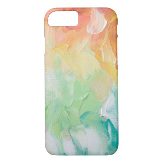 Soft Red to Blue Color Gradient Oil Painting iPhone 8/7 Case