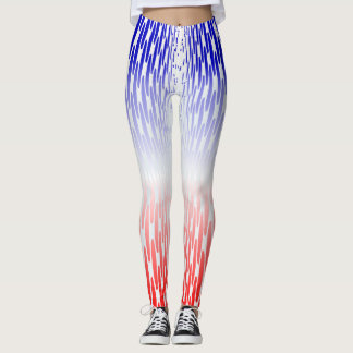 Soft Red White Blue Leggings