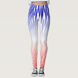 Soft Red White Blue-light Leggings