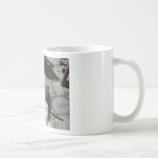 Soft rolls of wool called rovings or rolags coffee mug