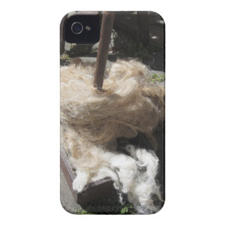 Soft rolls of wool called rovings or rolags iPhone 4 Case-Mate cases