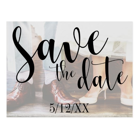 Soft Romantic Photo Typography 30 Save the Date 4 Postcard