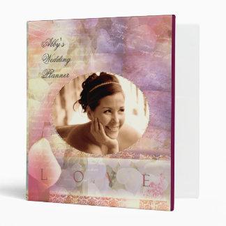 Soft & Romantic  Wedding Planner Vinyl Binders