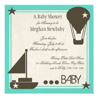 Soft Sails Baby Shower Card