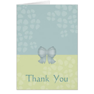 Soft Shades Bow Thank-You Card: Customize Card