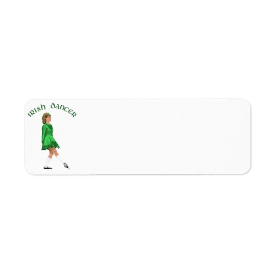 Soft Shoe Irish Dancer in Green Return Address Label