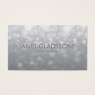 Soft Silver Bokeh Lights Business Card