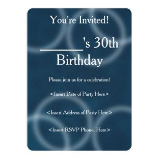 Soft Sound Blue Ripple Digital Abstract Art 5.5x7.5 Paper Invitation Card
