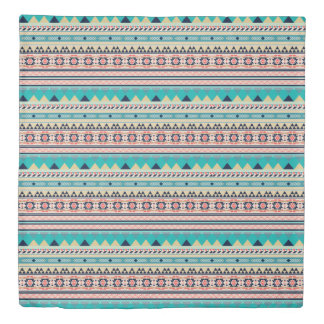 Soft Southwest Tribal Pattern Pink Turquoise Gold Duvet Cover