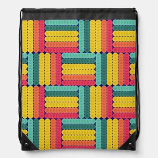 Soft spheres pattern drawstring bag