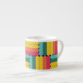 Soft spheres pattern espresso cup