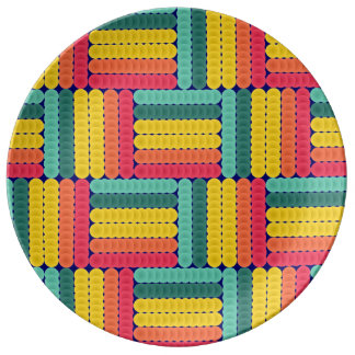 Soft spheres pattern porcelain plates