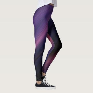 Soft Striped Leggings in Blue/Purple