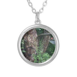 Soft summer rain silver plated necklace