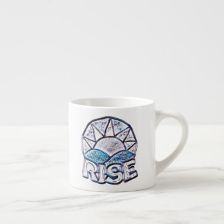Soft Sun Rise ~ Uplifting Message Graphic Espresso Cup