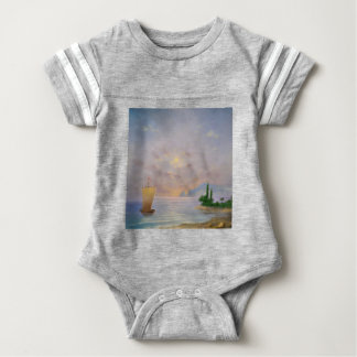 Soft sunset beach (all) baby bodysuit