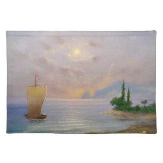 Soft sunset beach (all) placemat