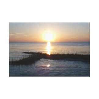 Soft Sunset over Cape Cod Wrapped Canvas