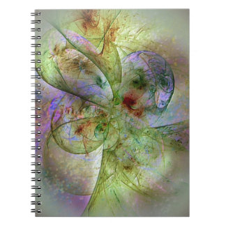 Soft Swirling Colors Abstract Spiral Notebook