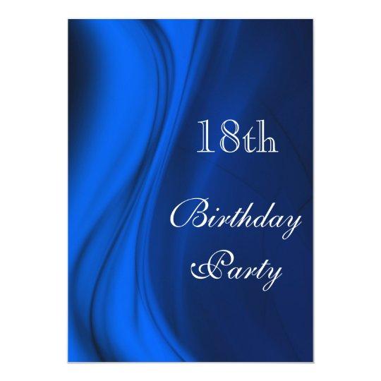 Soft Swirls Of Blue 18th Birthday Card