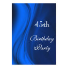 Soft Swirls Of Blue 45th Birthday Card