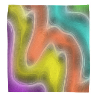 Soft Swirly Pastel Watercolor Wash Abstract Do-rags