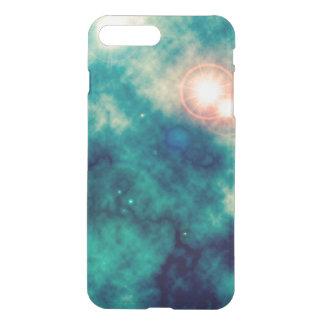 Soft Teal Blue Space Diffuse Nebula and Supernova iPhone 7 Plus Case